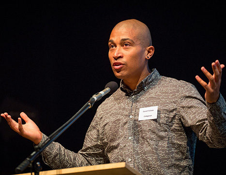 Daniel Kidane speaking at a BASCA event