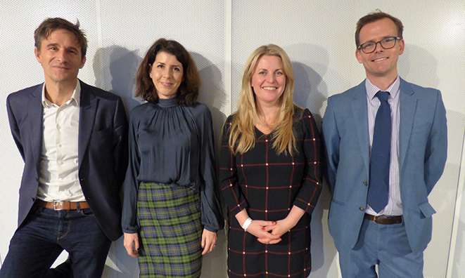 Crispin Hunt, Julia Montero, Emma McClarkin MEP and Graham Davies