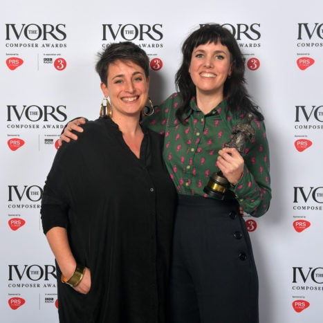 Anna Meredith with Sara Mohr-Pietsch at The Ivors Composer Awards 2019