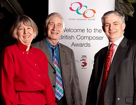 Sarah Rodgers, David Bedford and Roger Wright at the first British Composer Awards in 2003