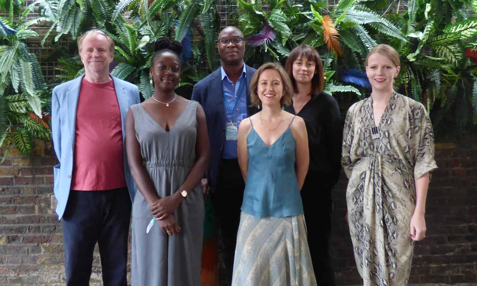 Our panellists and moderator, L-R: Robin Millar, Cassie Kinoshi, Wesley John, Vanessa Reid, Fran Matthews & Olga Fitzroy
