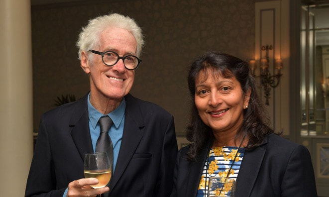 Rupert Hine with wife Fay at the Gold Badge 2019 © Mark Allan