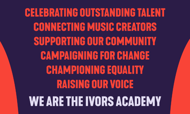 Advert for The Ivors Academy Annual Review 2020